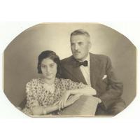 Aleksander Różankowski z córką Helenką, 28.08.1939 r.