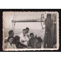 Alfons Olszewski (drugi z prawej strony), Sopot lata 30. XX w.