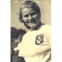 Alfreda Zeszutek (z domu Olichwierówna) Sopot, lata 40. XX w.