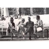 W Operze Leśnej Alfreda Zeszutek(pierwsza z lewej)  z przyjaciółmi l. 60.XX w.