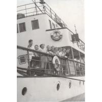 Amelia Heising-Poszowska ze znajomymi, Sopot 1952 r.