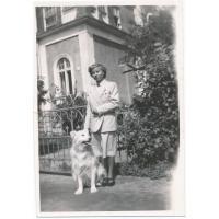 Amelia Heising-Poszowska na ul. Bieruta, dziś Haffnera, lata 50. XX w.