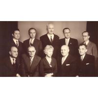 Grono pedagogiczne Państwowej Wyższej Szkoły Muzycznej, Sopot ul. Grunwaldzka 1963 r.
