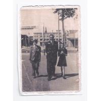 Józef Kałużny z dziećmi Jadwigą i Ryszardem, Sopot 1948 r.