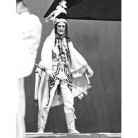 Andrzej Nowiński (podczas spektaklu Janosik, Teatr Wybrzeże), 1970 r.