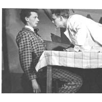 Gałczyniada - z Eugeniuszem Kujawskim, obecnie aktorem Teatru Miejskiego w Gdyni, 1956 r.