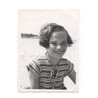 Anna Henschel na plaży, Sopot 1937 r.
