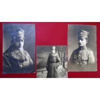 Zdjęcie Antoniego Minikowskiego w mundurze 1 półku Strzelców Wielkopolskich, zima 1919-1920, zdjęcie wykonane w zakładzie fotograficznym.