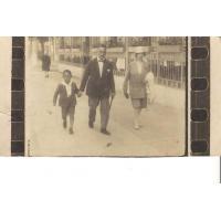 Arja Krzykalo z żoną Margarete i synem Hansem, Sopot ok. 1927 r.