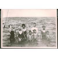 Rodzina Bianga na sopockiej plaży, Sopot 1924 r.