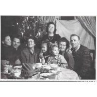 Wigilia rodziny Bianga u babci Colbe, Sopot 1953 r.