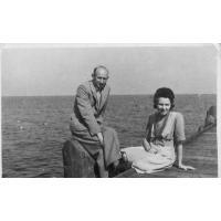 Eufozyna i Edward Trzeciakowie, Sopot 1946 lub 1947 r