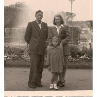 Kazimierz, Janina i Grażyna Mazur, Sopot 1949 r.