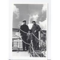 Augustyn Tarchała ze współpracownikiem, Sopot 1966 r.