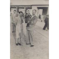Na spacerze na molo, Sopot, 1951 r.