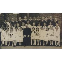 Pierwsza komunia św. w kościele NMP Gwiazdy Morza, Sopot 1938 r.