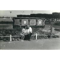Tadeusz Pakalski z kuzynką Basią z Krakowa, Sopot 1969 r.