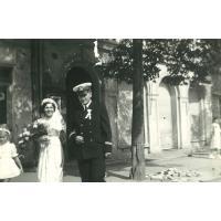 Państwo Pakalscy w dniu ślubu, Sopot 5.09.1954 r.