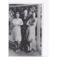 Alicja Niewęgłowska, Stefan Kaczorowski i Irena Zacharewicz, Sopot 1948 r.