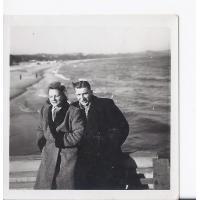 Alicja Niewęgłowska ze Stefanem Kaczorowskim, Sopot 1946 r.