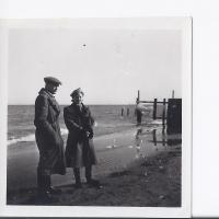 Jan Kwiatkowski i Alicja Niewęgłowska, Sopot 02. 1946 r.