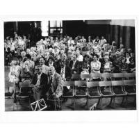 Aula Gimnazjum Polskiego w Gdańsku, 50 lecie ostatniej matury przed wojną, 27 maja 1989 r.
