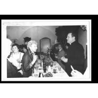 Ks. Kanonik Jankowski na opłatku byłej Polonii Gdańskiej w Kurii Biskupiej w Gdańsku -Oliwie, 9.01.1983