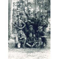 Harcerze z Sopotu na obozie, lata 40. XX w.