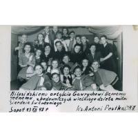 Jasełka w kościele Gwiazdy Morza, Harry Gawrych pierwszy z prawej, Sopot 23.12.1948 r.