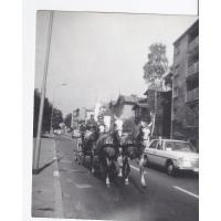 Powóz konny na ulicach Sopotu, lata 70. XX w.