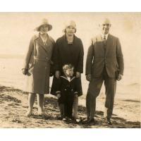 Jakub Schutta z rodziną, lata 30. XX w.