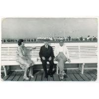 Ks. Władysław Młyński, Maria i Leon Młyńscy, Sopot 1967r.