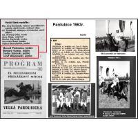 Skład ekip i koni, które startowały w Pardubicach w 1963 r.