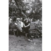 Krystyna Łubieńska z rodzicami Marią i Aleksandrem, lata 30. XX w.