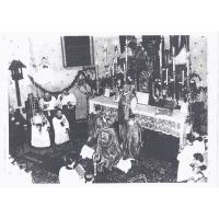 Uroczystości 50-lecia kapłaństwa ks. Pawła Schütza w kościele Gwiazdy Morza, Sopot 1961 r.