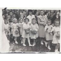 Procesja Bożego Ciała z kościoła pw. Św. Jerzego, Sopot 1947 r