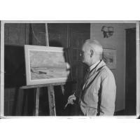 Marian Mokwa przy pracy, lata 70. XX w.