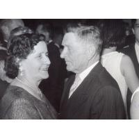 Michał Olichwier z żoną Bronisławą, Sopot, 1968 r.