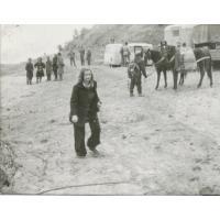 """Roswita Stern na planie filmu """"Gniazdo"""", 1973 r."""