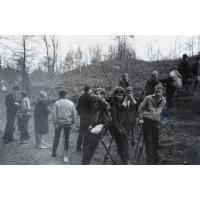 Sadzenie drzewek przez klasę IX a z II LO w Sopocie, Sopot 05. 1963 r.
