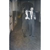 Studniówka w II LO, Stanisław Gienc z koleżanką, 13.02.1965 r.