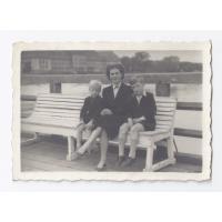 Stefan Grabowski z ciotką Martą i bratem Januszem