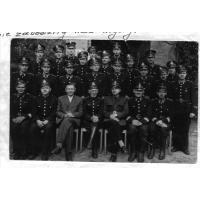 Pożegnanie pierwszego emeryta z sopockiej Straży Pożarnej, plut. S. Łokomskiego, Sopot 1954 r.