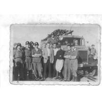 Ćwiczenia strażackie na molo, Sopot 1946 r.