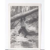 Przeprawa przez Swelinię, potok graniczny, Sopot 12.1957 r.