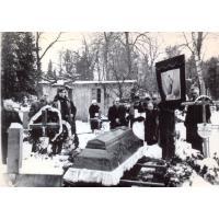 Pogrzeb Innocentego Wieloszewskiego, Sopot, ul. Malczewskiego, 1969 r.