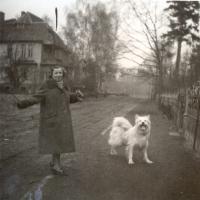 Amelia Heising-Poszowska na ul. Bieruta, dziś Haffnera, l. 50. XX w.
